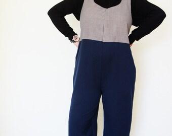 Jumpsuit, pregnant, unisex, one size, handmade, suit, salopette, combination, hot cotton