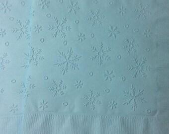 Snowflake Napkin ~ Embossed Paper Napkin ~ Christmas ~ Winter Wedding ~ Winter Napkin ~ Snowflake ~ Snow ~ Beverage ~ Luncheon ~ Napkin
