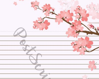 Spring Blossoms  - A5 Stationery - Writing Paper