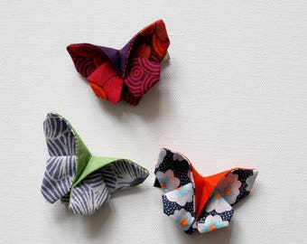 hair slide clip barrette butterfly origami