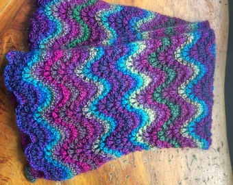 Stained glass striped scarf