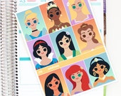 Fairytale Princesses Full Box Planner Stickers - For use with Erin Condren Vertical Lifeplanner // J15