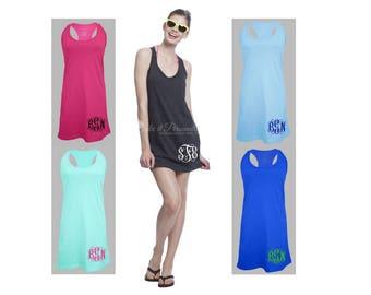 Monogram Swim Coverup - Bathing Suit Cover Up - Swimsuit Cover Up - Monogrammed Dress - Monogram Dress - Monogram Swimsuit Cover Up - Hip