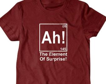 Surprise T-shirt, Ah! the element of surpirse, chemistry Funny T shirt, T Shirts for Men   T Shirts for Boyfriend & Husband   Gifts for Dad