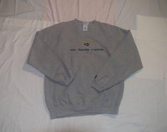 Vintage St Louis LA Rams Crewneck Sweater Sz XL