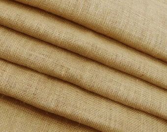 "Indian Fabric, Beige Jute Fabric, Beige Burlap, Rustic Decor, Sewing Fabric, Burlap Fabric, 52"" Inch Wide Jute Fabric By The Yard ZJC9A"