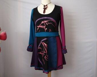 Upcycled clothing upcycled womens tunic dress bohemian clothes boho tunic hippie clothes gypsy clothing shabby chic clothing patchwork tunic