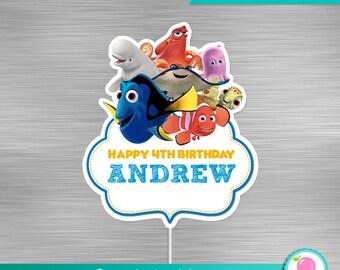 Finding Dory Centerpiece Print Yourself, Finding Dory Nemo Birthday, Nemo Party, Finding Dory Printable Centerpiece DIY