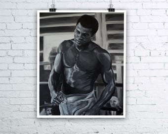Muhammad Ali Painting - Giclée Fine Art Print - Various sizes available Boxing Legend