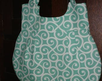 Handbag, All occasion bag, Shoulder bag, Purse, Everyday purse, Turquoise & White Purse, Turquoise/White Handbag