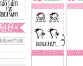 Munchkins - Bad Hair Day Planner Stickers (M268)