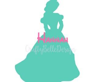 Disney Monogram Decal | Belle Disney Decal | Beauty and the Beast Decal | Disney Decal | Car Decal | Laptop Decal | Disney Princess Decal