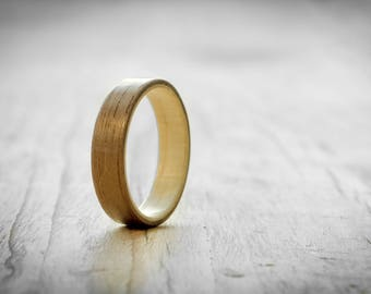 mens wood ring walnut and maple bentwood ring womens wood ring bentwood ring - Mens Wooden Wedding Rings