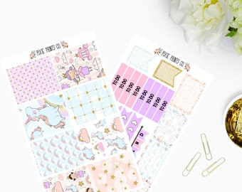 Princess Fairytale Planner Sticker Kit, for use with Erin Condren, Life Planner, Mambi, Happy Planner, Recollections Planner