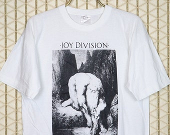 Joy Division vintage & rare T-shirt, white tee shirt, Dante's Inferno, New Order, Ian Curtis, 1980s 80s New Wave