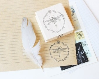 Rubber stamp Dragonfly
