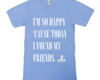 I'm So Happy 'Cause Today I Found My Friends Tee for Kids - Various Colors - Nirvana Shirt, Lithium Shirt, Kurt Cobain Shirt