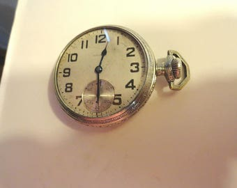 1911 Waltham Pocket Watch 17 Jewel  16 Size or 48mm  Running