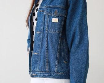 Vintage Woman Man Oversize Denim Jeans Jacket 90s