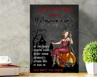 Invitation for Halloween, Halloween Party Invitation, Halloween Invitation Party, Halloween Invitation, Scary Invitation, Funny Invitation