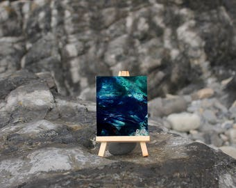 Tidal Water IV - Little Easel Wax Painting
