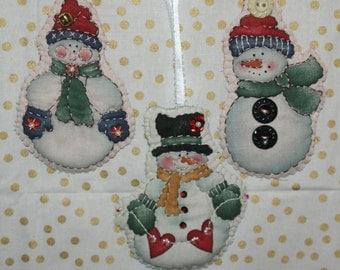 3 pc. chubby snowmen ornament set **SA:E** was 12.00