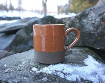 Orange CHOCOLATE Elemental Mug ~ Handmade in Studio ~ Ready to ship !!!