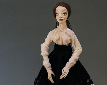 Mood doll, Art doll, OOAK doll, Handmade doll by Jolanta Paulauskiene