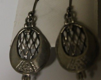 Vintage Sterling Silver Dangle Earrings made in Israel