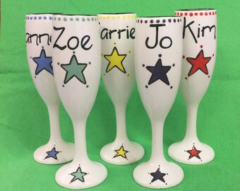 Personalised Name Champagne Flutes