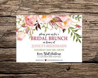 Bridal Brunch Bridesmaid Invite Printable