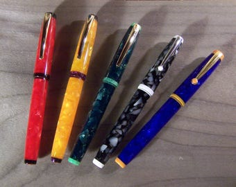 Kitless fountain pen in colorfull resin