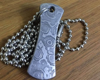 Damascus steel pendant