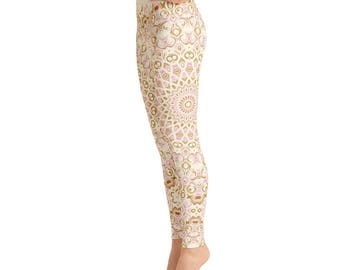 High Waist Stretchy Yoga Pants - Cute Printed Leggings, Womens Pattern Leggings Tights