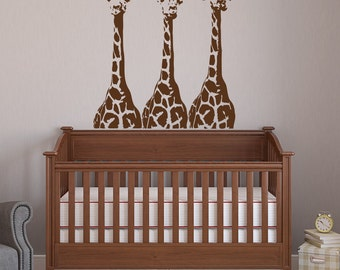 Giraffe Wall Decals  Jungle Wall Decal  Safari Animals Nursery Decor  Safari  Wall Decal