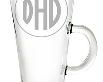 Dad Latte Etched Glass
