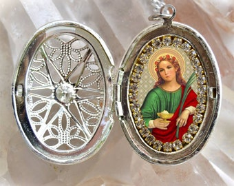 Saint Agatha of Sicily – Patroness Against Breast Cancer; Bell Founders, Against Fire, Palermo, Rape Victims; Wet Nurses; Religious Medal