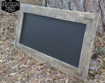 Large Rustic Farmhouse Magnetic Chalkboard | Aged Gray | Coastal | Beach | Weathered Gray | Sign | Shabby Chic | Modern Rustic | Wedding