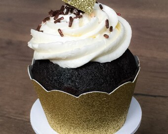 Gold Glitter Diamond Cupcake Toppers • Bachelorette • Bridal Shower • Engagement • Birthday • Food Picks