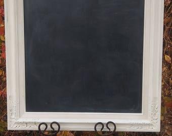 Large Framed Ivory chalkboard