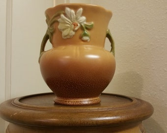 Vintage, 1940's, Weller Pottery, Art Pottery, Double Handled Vase, Daisy, G-5, Perfect Condition