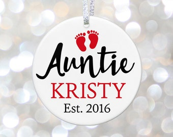 New Aunt To Be Ornament New Auntie Gift For Aunt Gift Auntie To Be I Love My Auntie Future Aunt Auntie Announcement Gift Aunt Pregnancy Gift