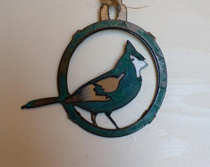 Patina Cardinal Ornament