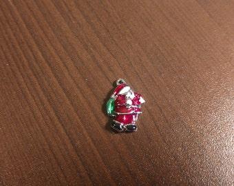 10pcs - 23mm x 16mm Drop Oil Santa Claus Charm - Pendant - Christmas Charm - Santa Charm - Christmas Gift - Christmas Jewelry