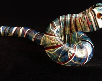 Coiled Glass Snake Pipe
