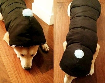 dog winter quilted Jacket with hood -custom made dog winter coat - dog custom made coat - dog winter clothes - dog winter coat - dog clothes