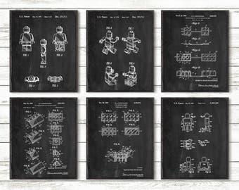 Lego Brick ,Lego Patent Prints,Grid Paper,Custom ,halkboard,Blueprint,Patent Prints,Posters,Toys,Building,Lego Blocks,Invention ,Kids #P225