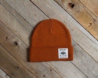 The Highland Camp Beanie - Burnt Orange
