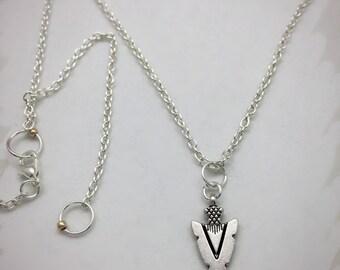 Dainty Silver Necklace, Arrowhead charm, Warrior Jewelry, Alertness Boho Jewelry, Protection Jewelry, Strength Charm, Strength Jewelry