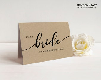 Printable On My Wedding Day Cards   To My Mother, Father, Sister, Bride, Groom, Parents, etc   EDN 5481